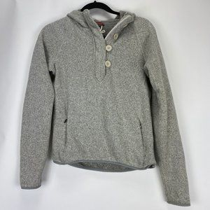 The North Face Womens S/P Gray Hooded Sweater